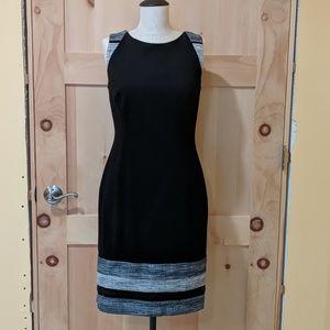 Black and Grey Sheath Dress